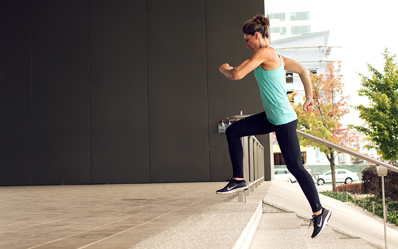 15-minute stair workout